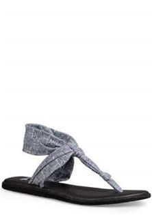 Sanuk Yoga Sling 2 Prints Sandals in Grey Tiki Tile Sanuk Sandals, Sanuk Shoes, Sanuk Mens, Mens Flip Flops, Best Sellers, Tile, Yoga, Grey, Prints