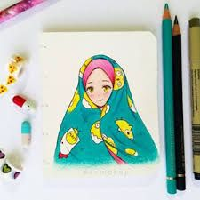 Esmakup yapımı Girl Drawings, Cartoon Girls, Islamic Art, Sketchbooks, Art Inspo, Muslim, Disney Characters, Fictional Characters, Alphabet