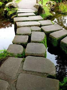 The steps along a path at the Japanese Tea Garden in Golden Gate park. I just love these gardens and loved San Francisco. I can't wait to go back someday!