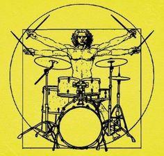 T-shirt Men von Vitruvio Battery - nº 1064960 - T-shirts latostadora - # Tatoo Crane, Rock And Roll, Drum Lessons For Kids, Drum Tattoo, Drums Art, Drum Music, Plakat Design, Montage Photo, Cultura Pop