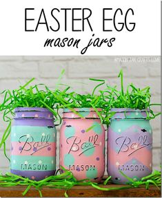 DIY Easter egg crafts with mason jars from Mason Jar Love