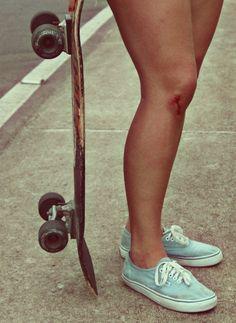 This summer: shorts, vans, longboard.