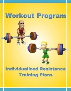 """The exercise program can be used by PE and Health teachers, coaches and professors to teach and/or make available """"individualized exercise plans"""" for resistance training."""