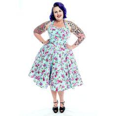 1213546330 Womens Clothing    Seafoam Siren ~ Rockabilly Floral Dress - + Inspired  Insanity + Clothing for 50s Rockabilly Dolls
