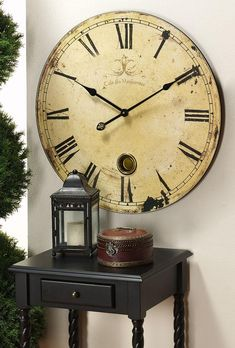 Large Wall Clock Sale - Wall clocks come along with a array of sizes and shapes. A massive wall clock can have a dramatic Big Wall Clocks, Cool Clocks, Clock Decor, Wall Decor, Bedroom Decor, Modern Bedroom, Oversized Clocks, Ikea Design, Wall Clock Design