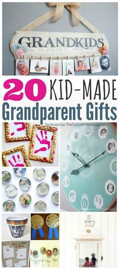 Finding meaningful grandparent gifts can be a challenge...so why not make them instead! These meaningful DIY kid-made crafts will be treasured forever! Diy Christmas Gifts For Kids, Diy Gifts For Mom, Homemade Christmas Gifts, Homemade Gifts, Gifts For Family, Diy For Kids, Gifts For Children, Grandparents Christmas Gifts, Grands Parents