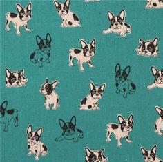 http://www.kawaiifabric.com/en/p11853-dark-green-with-natural-color-black-dog-laminate-fabric-from-Japan.html