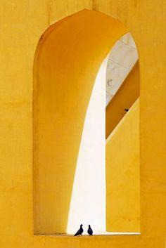 The Golden Door (Kelly Wearstler) Geometry; Jantar Mantar, Jaune Orange, Yellow Submarine, Mellow Yellow, Color Yellow, Bright Yellow, Yellow Fever, Yellow Sun, Pastel Yellow