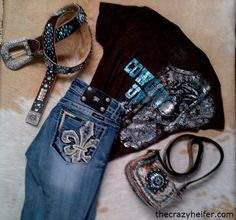 Jeans and bling :)