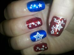 4th of July nails 2011
