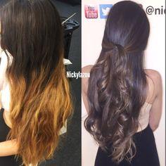 Before & after by #NickyLazou #balayage#bronde#hair#NickyLazou