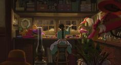 Screencap Gallery for Howl's Moving Castle Bluray, Studio Ghibli). A love story between an girl named Sofî, cursed by a witch into an old woman's body, and a magician named Hauru. Under the curse, Sofî sets Hayao Miyazaki, Howls Moving Castle Wallpaper, Fire Demon, Old Girl Names, Movie Shots, Cartoon Background, Wallpaper Pc, Manga, The Magicians