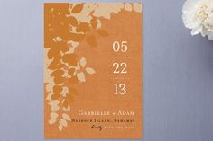 Autumn Leaves Save The Date Cards by Amanda Larsen. Unique Save The Dates, Save The Date Photos, Save The Date Cards, Save The Date Designs, Autumn Leaves, Amanda, Wedding Day, Dating, Invitations