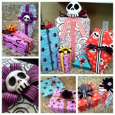 Nightmare Before Christmas Wrapping Paper DIY Tutorial (DIY Nightmare Before Christmas Halloween Props) Halloween Prop, Theme Halloween, Holidays Halloween, Halloween Crafts, Halloween Tutorial, Halloween Cosplay, Halloween Fonts, Halloween Witches, Halloween Night