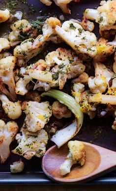 This roasted cauliflower is the perfect pan-roasted dinner side.