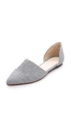 Fun way to bring stripes into your wardrobe in an effortless way!   Jenni Kayne DOrsay Flats