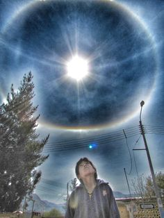 Halo solar en Cusco.