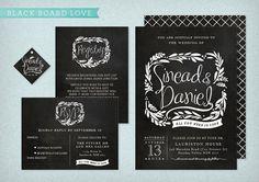 Blackboard Love DIY Printable Wedding Invitation by LadyBPaperie, $85.00
