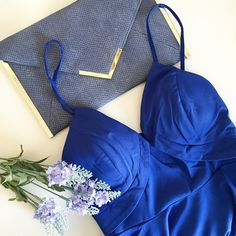 Glamorous Royal Blue Dress Glamorous Royal blue dress from Tea and Cup. Structured. Built in bra. Silver toned hardware. Zip back closure. Adjustable straps. Perfect for a night out! Never been worn. Also available as size Small and Large.   No trades.  No paypal. Instagram: @Jhennay262 Tea and cup Dresses
