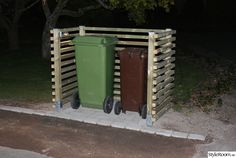 Trash Can Storage Outdoor, Garbage Can Storage, Storage Bins, Outdoor Projects, Garden Projects, Outdoor Decor, Hide Trash Cans, Bin Store, House Yard