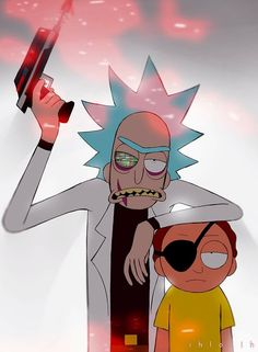 Evil Rick and Evil Morty Rick And Morty Quotes, Rick And Morty Time, Rick And Morty Poster, Cartoon Wallpaper, Iphone Wallpaper, Rick And Morty Drawing, Rick And Morty Tattoo, Ricky Y Morty, Dope Wallpapers