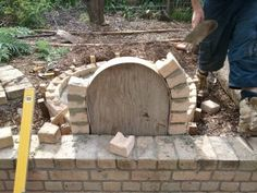 DIY pizza oven-what about a small scale one-could be built in the garden off your patio?