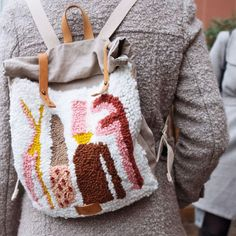 Knooking, Diy Trend, Mug Crafts, Rya Rug, Fox Bag, Weaving Textiles, Cute Mugs, Punch Needle, Rug Hooking