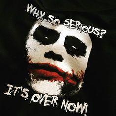 Der Joker ist schon auch cool. Irgendwie.  #whysoserious #abschlussmotto #abschlusspulli #abschlussshirt #ak16 #ak2016 #shirtsndruck