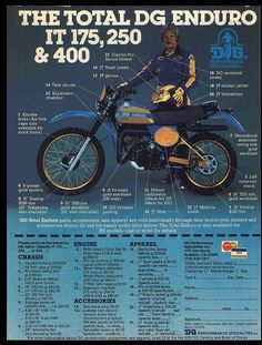1977- Yamaha IT175 DG Package Racer ad