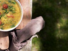 Indisk suppe med ris og røde linser Ethnic Recipes, Food, Meal, Eten, Meals