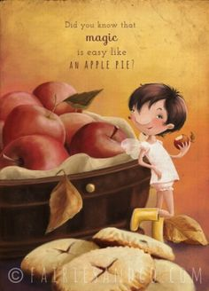 Apple Pie Fairy A3 Print, £15.00 Did you know that Magic is easy like an apple pie?