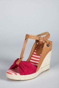 Kelsi Dagger Ricky T-Strap Wedge Sandal