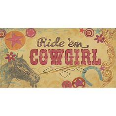 Cowgirl Canvas Reproduction from PoshTots