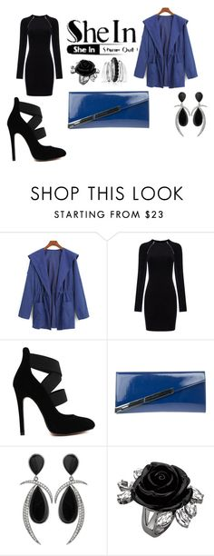 """win a shein blue coat"" by almaaa789 ❤ liked on Polyvore featuring T By Alexander Wang, Gucci and Avenue"