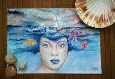 Mistress of the sea/pastel&pencil