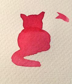 Cat, Watercolor