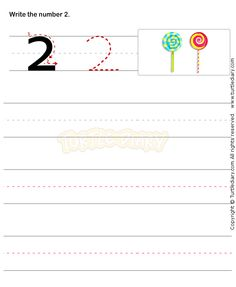 Number Writing Worksheet 2 - math Worksheets - preschool Worksheets