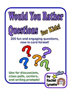 Perfect for back to school - These intriguing questions will help you get to know your students and help them get to know each other. Kids love them and as you can see below, they make terrific writing prompts and are great for facilitating higher level thinking. $