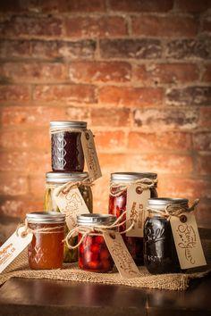 Homemade jams, jellies, brandied cherries and spicy beans at Nick's Cove (Marshall, CA)