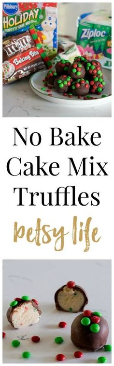 No Bake Cake Mix Truffles. A great chocolate holiday recipe that is also a fun project for the whole family.