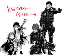 Woah~ Oikawa changed into a badass~ And well.. Iwaizumi was and is always going to be a badass~ -Pandas1155 source: http://www.pixiv.net/member_illust.php?mode=manga&illust_id=46833240