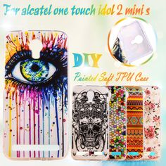 Painting Phone Cases For Alcatel OneTouch Idol 2 Mini S 6036 6036Y one touch idol2 mini S 4.5 inch Hard Cover Case Cover Shell
