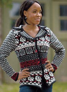 Ravelry: Selbu Blazer Pattern pattern by Mary Scott Huff Blazer Pattern, Vest Pattern, Hand Knitted Sweaters, Knitting Sweaters, Women's Sweaters, Fair Isle Pattern, Lace Outfit, Knitting Designs, Knitting Ideas