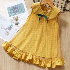 Bear Leader Girls Dress 2019 New Summer Style Brand Kids Dress Peter pan Collar Sleeveless Striped Pattern Pring for Baby Dress Frock Design, Baby Dress Design, Baby Girl Dress Patterns, Frocks For Girls, Toddler Girl Dresses, Little Girl Dresses, Girls Dresses, Baby Summer Dresses, Baby Dresses