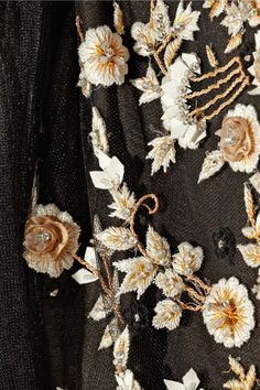 Marchesa   Embroidered tulle dress.