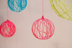 Yarn Chandeliers-can be made with or without a light!