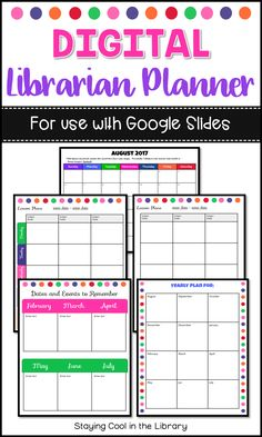 Elementary Library Lesson Plans - 30 Elementary Library Lesson Plans , Exit Tickets for the Elementary Library Grades K 5 Bundle School Library Lessons, Library Lesson Plans, Middle School Libraries, Library Skills, Teacher Lesson Plans, Elementary Library, Elementary Schools, Google Docs, Library Organization