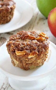 Paleo Apple Muffins – super moist, fuss-free and maple sweetened.