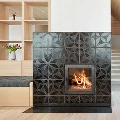 "KARAK auf Instagram: ""#cozy #blackonblack #raku #stove realized by @ofenbauvoppichler"" Divider, Room, Objects, Fire, Inspiration, Furniture, Instagram, Home Decor, Tiling"