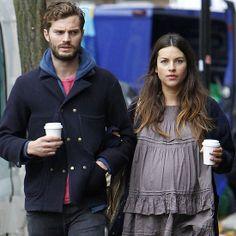 Jamie Dornan and His Wife   Jamie Dornan and His Wife Doing Errands in London